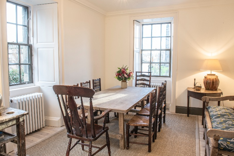 Rock House on Calton Hill has the perfect dining table for hosting a Burns Supper!