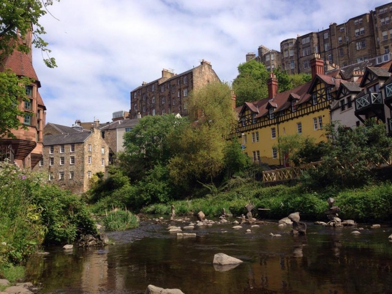 Dean Village is as pretty as a picture.