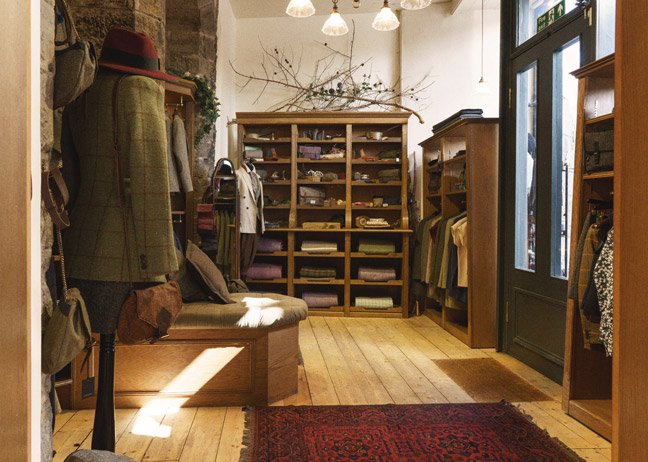 The women's tweed shop opened in 2012, also in the Grassmarket.