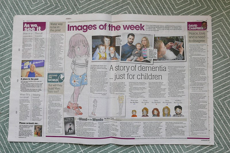 The project has been featured in several media outlets, e.g. the Sunday Post.